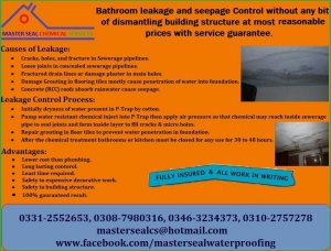 Bathroom Water Tank Leakage Solution Without Destruction In Lahore - Bathroom leakage solution