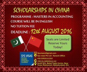 100% Scholarships In China-Apply Now - Karachi - free